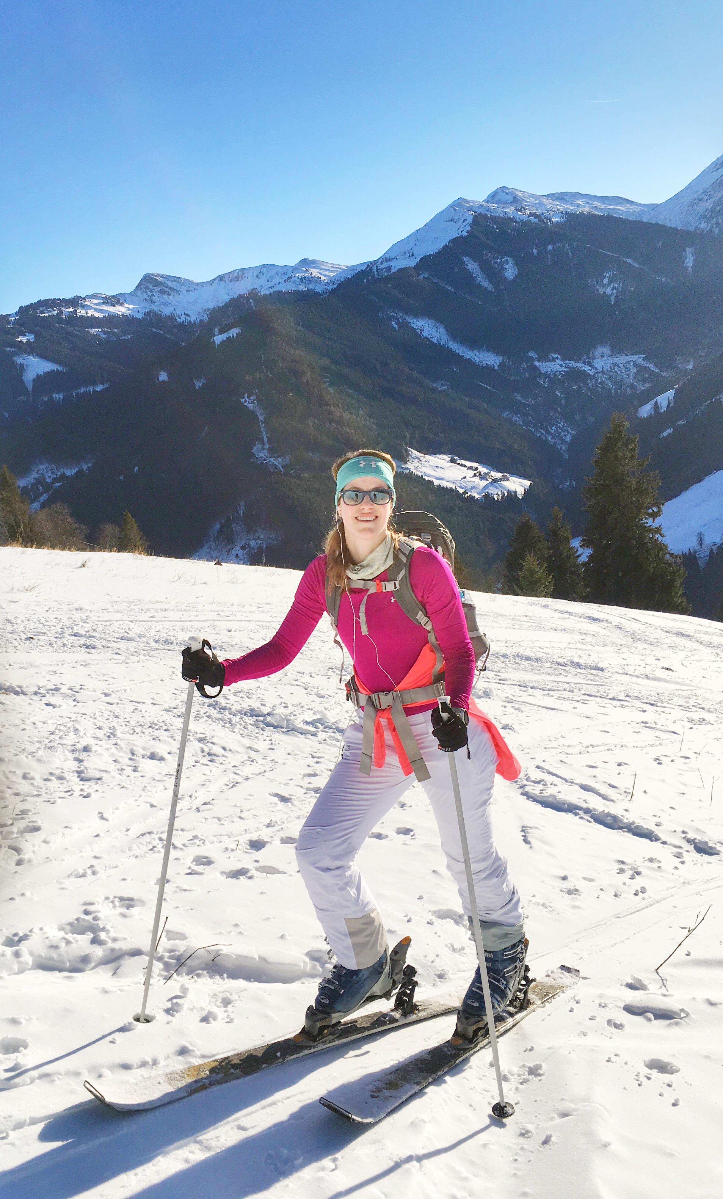 Aerial Spartan ski touring