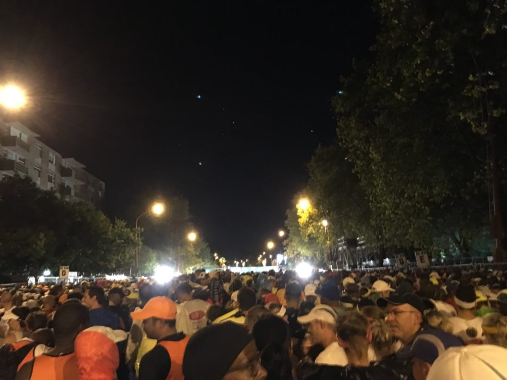 At the start of Two Oceans Marathon