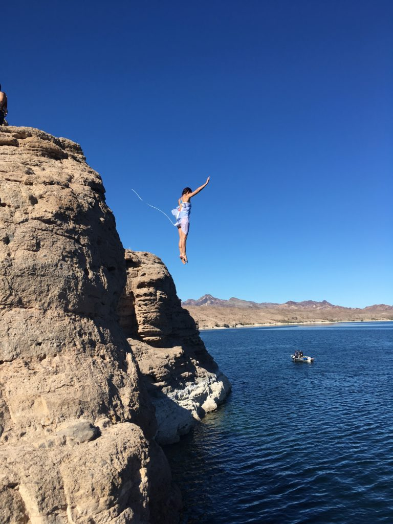 World's Toughest Mudder Cliff Jump Practice