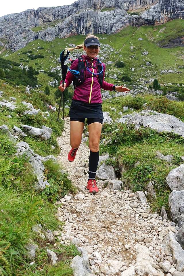 Manuela loves trail running