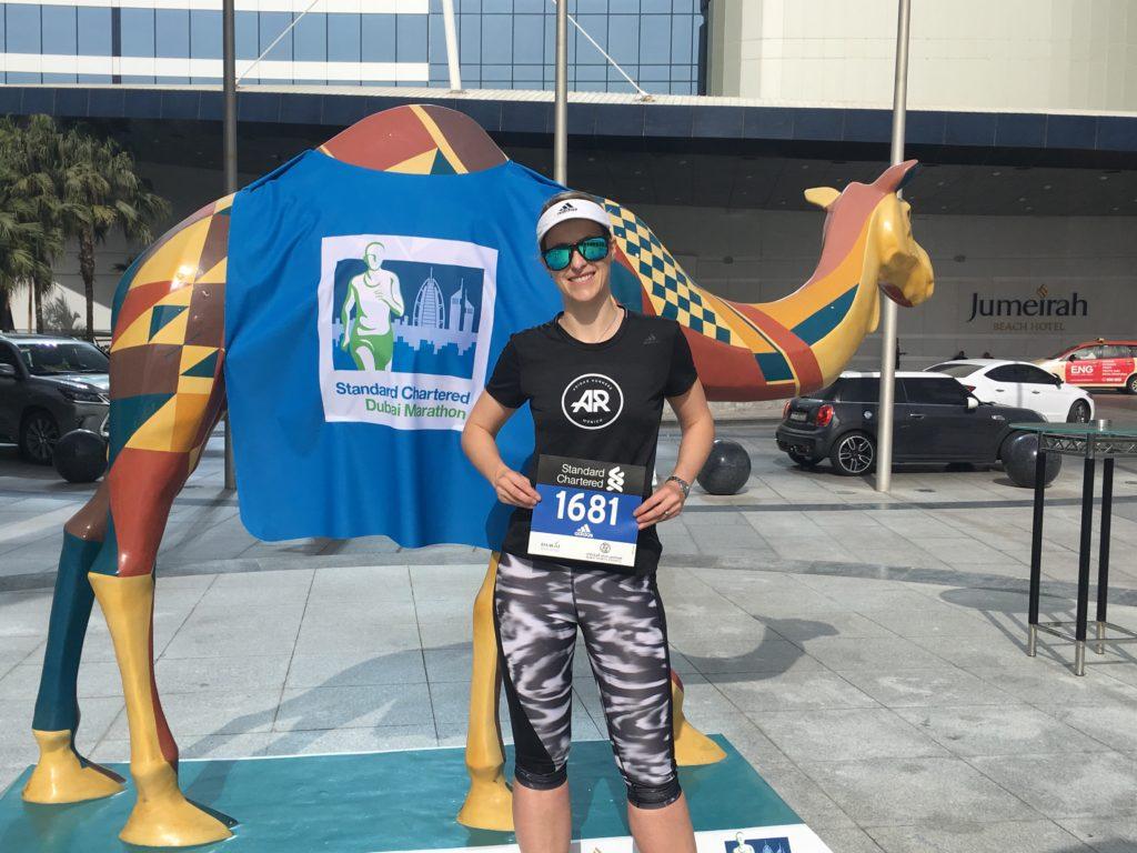 Dubai Marathon bib pick up