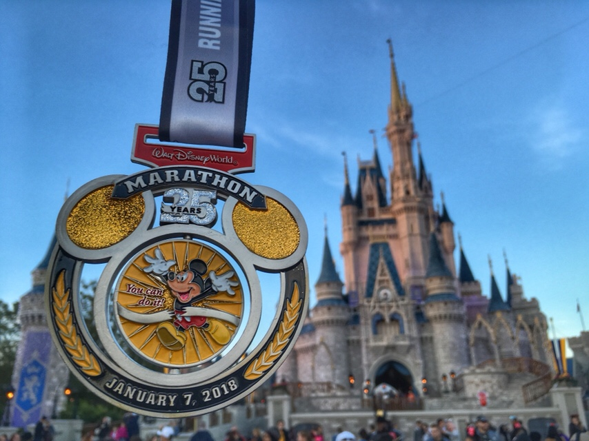 Disney World Marathon medal