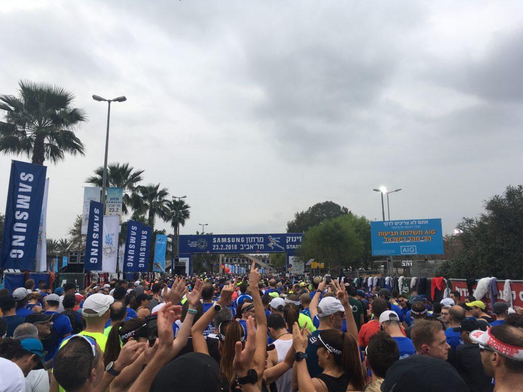 Start of Tel Aviv Marathon
